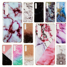 For Huawei P30 Lite Mate 20 Pro P20 Y9 Slim Marble Pattern Soft TPU Cover Case