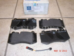 Mercedes-Benz SL CL Class Genuine Front Brake Pad Set,Pads w/Sensor SL550 CL550