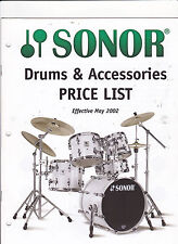 #MISC-0410 - 2002 SONOR DRUMS musical instrument catalog price list