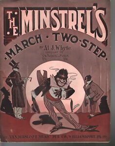 Minstrel's March - Two Step 1913 Large Format Sheet Music
