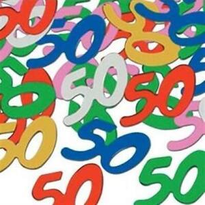 50th Birthday Confetti 1/2 oz Tabletop Foil Fifty Birthday Party Decoration