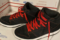 2014 Nike SB Dunk High Pro Gradient Thermal Stitch Black Size 14 - 305050 012