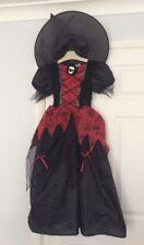 Halloween Witches dress & Hat- Skeleton Spiderweb Print  8-9-10 ⭐️VGC⭐️
