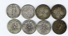 More details for 8 different silver florin two shilling coins - 86.5g : 1856 - 1918