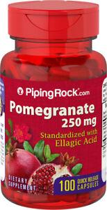 Piping Rock Pomegranate Extract 250mg & Ellagic Acid 100 Capsules (free ship)