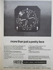 9/1968 PUB SMITHS RADIO MAGNETIC INDICATOR FLIGHT DECK INSTRUMENTS ORIGINAL AD
