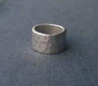 SOLID .999 STERLING SILVER KAREN HILL TRIBE WIDE BAND RING SIZE J