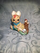 Pendelfin Woodlander Timber Rabbit Bunny Figurine - Stoneware - Made in England