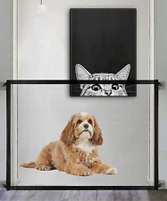 New listing Pet Gate Magic Gate For Dogs Pet Safety Guard Mesh Dog Gate Portable Folding