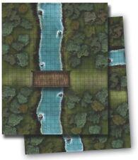 Paizo GameMastery Flip-Mat - River Crossing Used Pathfinder D&D