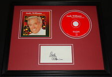 Andy Williams Signed Framed 11x14 CD & Photo Display