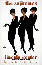 Original Vintage Concert Poster The Supremes at Lincoln Center by Joe Eula 1965
