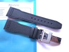 Strap in 22mm - Black Canvas Nylon in 22/18mm - Pilot Flieger b-uhr - IWC Style