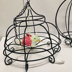 Pottery Barn Wire Cage Hanging Pendants Home Decor Plant Holder Outdoor Indoor