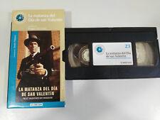 LA MATANZA DEL DIA DE SAN VALENTIN CORMAN VHS CAJA CARTON CASTELLANO EL MUNDO