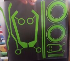HELMET TRON STYLE STICKERS LIME GREEN  DECALS MOTORCYCLE NINJA ZZR SPEC RACE MOT