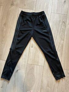 Adidas Boys Kids Slim Fit Black Grey Joggers, Age 11-12