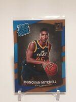 2017-18 Panini Donruss Rated Rookie Donovan Mitchell Base RC #188 Utah Jazz