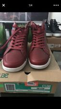Clae Russell fashion sneakers Silver/Gray Red/Merlot Leather