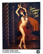 "Claire Sinclair Signed 16""x20"" Photo - Playboy PMOY 2011 - B02"