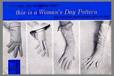 Vintage Woman's Day Fourchette Glove Shortie Fabric material sew  pattern #5053