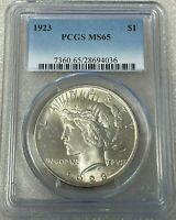 1923 Peace Silver Dollar PCGS MS65