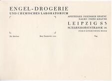 Briefpapier Engel-Drogerie Leipzig Friedrich Krause Fritz Schönes Wasserzeichen