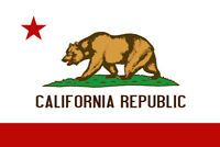 California Republic Bear State Flag Poster 12x18 inch