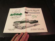 Original 1959 Metropolitan 1500 Spec Sheet/ Brochure