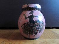 Vase; Manufacture d'art congolais (MAAC), signé Biantouari, 1964 art poto poto