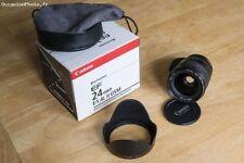 Canon EF 24mm F 1.4 L occasion, objectif très propre sans aucun souci.