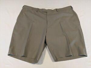 Fletcher Jones wool blend mens taupe McKinlay dress shorts Size 110