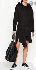 McQ Alexander McQueen Black Hoodie Jumper Dress Size XL (16) 4 Arms