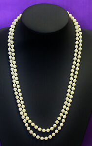 Vintage Faux Pearl Continuous Strand Fixed Smaller Sized Beads Pretty VGC 0621