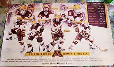 Minnesota Golden Gophers 2018-19 Women'S Hockey Schedule Poster Ranked #2 Team.
