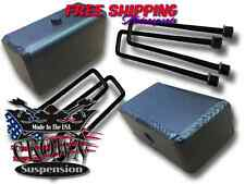 "Crown Suspension 1988-1999 C1500 Steel 4"" Fabricated Lift Blocks Square Ubolts"