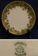 """Limoges AL Alfred France Lanternier Anchor 6 1/8"""" Plate, Ivy, Berries and Gold"""