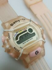 Vintage Baby G Sports Watch Pink Womens For Parts Or Repair & Extra Band