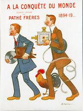 """""""A LA CONQUÊTE DU MONDE par Pathé Frères 1906"""" Diapositive de presse originale"""