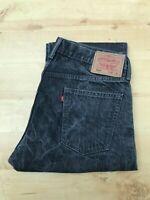 Men's Levi's 514 Slim Straight Dark Grey Jeans W35 L30 (#A762)