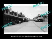 OLD LARGE HISTORIC PHOTO OF MURWILLUMBAH NEW SOUTH WALES MAIN ST & SHOPS c1930