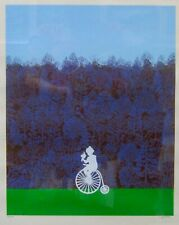 Duchamp Style Vintage Serigraph Penny Farthing Bicycle LE Signed MILVIA MAGLIONE
