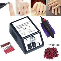 Profession Manicure Pedicure Electric Drill File Nail Art Pen Machine Tool Kit