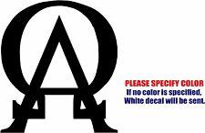 """Alpha Omega #03 Graphic Die Cut decal sticker Car Truck Boat Window Bumper 9"""""""