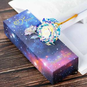 Enchanted Eternal 24K Gold Foil Rose Flower Love Stand Xmas Valentines Gift Set
