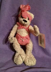 """CUTE AND  COLLECTABLE """" OSWALD"""" , GIRL,TEDDY BEAR, WITH ORIG TAG #B74-49)"""