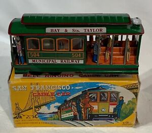 Oddball San Francisco 3-D  Lithograph Cable Car Shiny Bright New, Works.