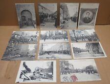 LIMOGES (87) série de 12 cartes postales troubles greves 1905 belles animations