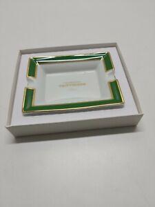 Taittinger Champagne Advertising Collectable White Ceramic Royal Limoges Ashtray