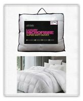 MICROFIBRE DUVET QUILT  TOG 13.5. SIZES: SINGLE, DOUBLE AND KING.